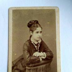 Fotografía antigua: FOTOGRAFÍA, CARTA DE VISITA. CASTILLO FOTÓGRAFO. LIMA S. XIX.. Lote 159241438