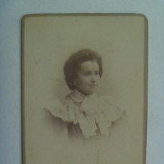 Fotografía antigua: CDV DE SEÑORITA DEL SIGLO XIX. DE VARELA HERMANOS , VALLADOLID. Lote 159314686