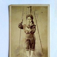 Fotografía antigua: FOTOGRAFÍA, CARTA DE VISITA. W. E. DEBENHAM, LONDON S. XIX.. Lote 159340928