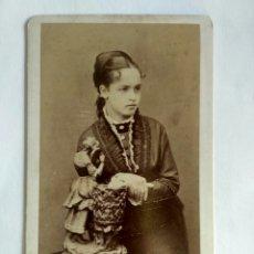 Fotografía antigua: FOTOGRAFÍA, CARTA DE VISITA. R. CASTILLO. LIMA S. XIX.. Lote 159567152