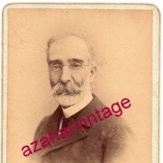 Fotografía antigua: VALLADOLID, SIGLO XIX, CDV DE UN CABALLERO VALLISOLETANO, FOT.EGUREN,105X165MM. Lote 159600666