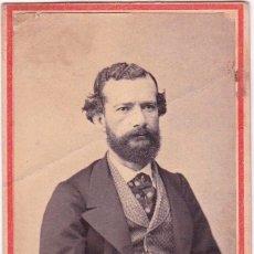Fotografía antigua: 1864 FOTOGRAFÍA FECHADA CARTA DE VISITA, CDV, RETRATO CABALLERO FOTÓGRAFO RICHARDSON LIMA, PERÚ. Lote 159700270