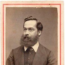 Fotografía antigua: 1860'S FOTOGRAFÍA CARTA DE VISITA, CDV, RETRATO CABALLERO FOTÓGRAFO RICHARDSON LIMA, PERÚ. Lote 159700494