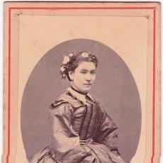 Fotografía antigua: 1860'S FOTOGRAFÍA CARTA DE VISITA CDV RETRATO DAMA FOTÓGRAFO COURRET HERMANOS LIMA, PERÚ. Lote 159701198