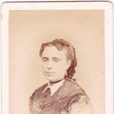 Fotografía antigua: 1860'S FOTOGRAFÍA CARTA DE VISITA CDV RETRATO DAMA FOTÓGRAFO COURRET HERMANOS LIMA. Lote 159701994