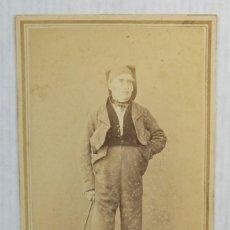 Fotografía antigua: CARTE DE VISITE-FOTOGRAFÍA MR.HOSTENC BARCELONA SIGLO XIX-RETRATO HOMBRE-10,5X6,5 CM. Lote 160290342