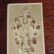 Fotografía antigua: FOTOGRAFIA DE LA FAMILIA REAL, CARTE DE VISITE, J. LAURENT, SIGLO XIX FOTOGRAFO DE S.M. LA REINA ISA. Lote 163868250