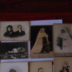 Fotografía antigua: AB-349.- LOTE DE - 7 - FOTOGRAFIAS DE DIFERENTES TAMAÑOS, TODAS DE FOTOGRAFOS DE BARCELONA. Lote 165218758