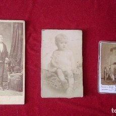 Fotografía antigua: AB-351.- LOTE DE -3 - FOTOGRAFIAS DE DIFERENTES TAMAÑOS , UNA DE NIÑO VESTIDO DE TORERO . . Lote 165229994