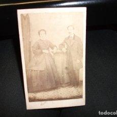 Fotografía antigua: CARTAGENA MURCIA CARTE DE VISITE CDV SIGLO XIX - FOTO VALERO FOTOGRAFIA - PAREJA. Lote 165655378