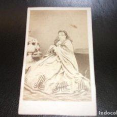 Fotografía antigua: LORCA MURCIA CARTE DE VISITE CDV SIGLO XIX - FOTO ROVIRA FOTOGRAFIA - MUJER. Lote 165655538