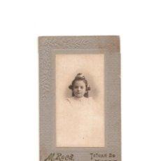 Fotografía antigua: CARTES DE VISITE. ESTUDIO FOTOGRÁFICO. M.ROCA. MADRID. . Lote 165725774