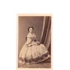 Fotografía antigua: CARTES DE VISITE. ESTUDIO FOTOGRÁFICO. M. DE HERBERT. MADRID.. Lote 165731002