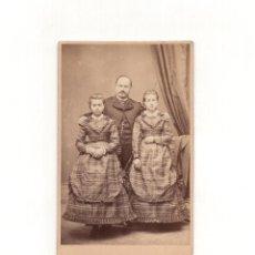 Fotografía antigua: CARTES DE VISITE. ESTUDIO FOTOGRÁFICO. EUGENIO LANELONGUE ESPOZ Y MINA. CORUÑA. Lote 165968222