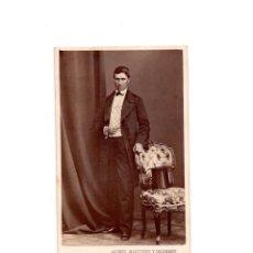 Fotografía antigua: CARTES DE VISITE. ESTUDIO FOTOGRÁFICO. A. ALONSO MARTÍNEZ Y HERMANO. MADRID. Lote 165994718