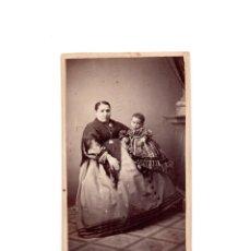 Fotografía antigua: CARTES DE VISITE. ESTUDIO FOTOGRÁFICO. EL NORTE. MADRID.. Lote 166032690