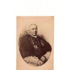 Fotografía antigua: CARTES DE VISITE. ESTUDIO FOTOGRÁFICO. M. MORALES Y DIAZ. PAPA PIO IX.. Lote 166145634
