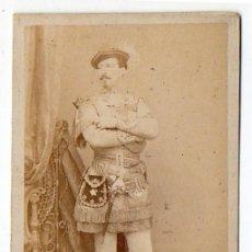 Fotografía antigua: CONDE DE VERNAY. MADRID. ACTOR O PERSONAJE DISFRAZADO . H. 1860. Lote 166821490