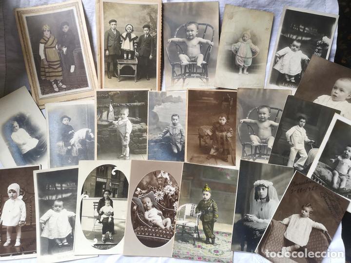 LOTE DE 61 FOTOGRAFÍAS DE NIÑOS. DIFERENTES FOTÓGRAFOS. BARCELONA. PRINC. S. XX (Fotografía Antigua - Cartes de Visite)