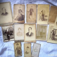 Fotografía antigua: LOTE DE 15 FOTOGRAFÍAS DE HOMBRES Y MUJERES. DIFERENTES FOTÓGRAFOS. ESPAÑA. FINALES S. XIX. Lote 168078180