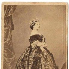 Fotografía antigua: 1861 FOTOGRAFÍA RETRATO CDV REINA VICTORIA INGLATERRA ALBUMINA CDV FOTÓGRAFO CHARLES CLIFFORD. Lote 168492808