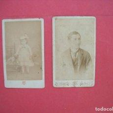 Fotografía antigua: W. BIENMULLER.-NICE.-NIZA.-A. PROUZET.-PARIS.-CARTES DE VISITE.-FOTOGRAFIAS.-ALBUMINAS.. Lote 168745576