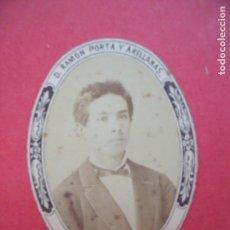 Fotografía antigua: RAMON PORTA Y ARELLANAS.-GUATEMALA.-CARTE DE VISITE.-ALBUMINA.-FOTOGRAFIA.. Lote 168749844