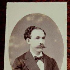 Fotografía antigua: FOTOGRAFIA CARTE DE VISITE CDV DE CABALLERO, FOTOGRAFO E. OTERO DE MADRID, MIDE 10 X 6,2 CMS.. Lote 169389128