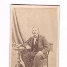 Fotografía antigua: LORENZO PUJOL CASTAÑER, 1876. FOTO JUAN MARTÍ, BARCELONA. CDV. Lote 169423888