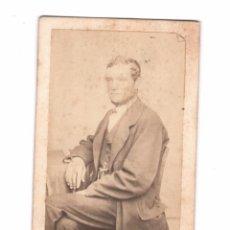 Fotografía antigua: JOSÉ PUJOL, AÑO 1867. SIN DATOS DEL FOTÓGRAFO. CDV. Lote 169482324