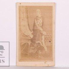 Fotografía antigua: ANTIGUA TARJETA DE VISITA / CDV - MILITAR Y POLÍTICO LEOPOLDO O'DONNELL - SIGLO XIX, AÑO 1869. Lote 170060924