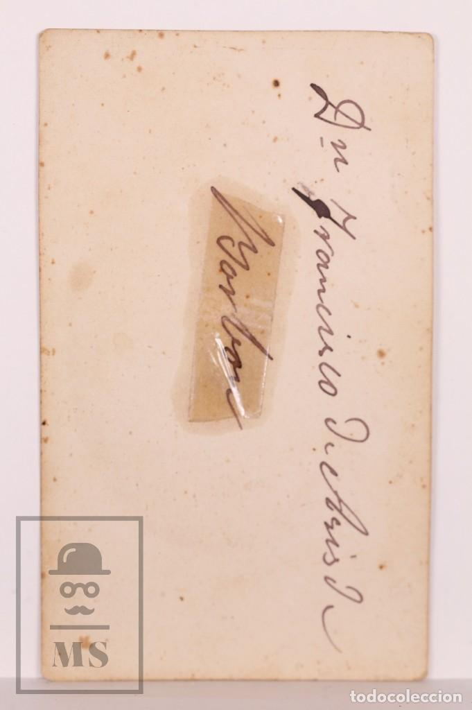 Fotografía antigua: Antigua Tarjeta de Visita / CDV - Francisco de Asís de Borbón, Consorte de Isabel II - Siglo XIX - Foto 3 - 170064340