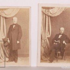 Fotografía antigua: 2 TARJETAS DE VISITA / CDV FOTOGRÁFICAS - MARIANO DE GUILLAMAS, MARQUÉS DE SAN FELICES - J. LAURENT. Lote 170065408
