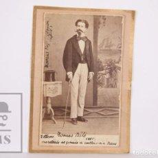 Fotografía antigua: FOTOGRAFÍA CDV TOMÁS PUJOL BLANCH / BILÓ, SECRETARIO GREMIO CURTIDORES, REUS, 1885 - MARTÍNEZ, REUS. Lote 170085252