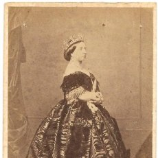 Fotografía antigua: 1861 FOTOGRAFÍA RETRATO CDV REINA VICTORIA INGLATERRA ALBUMINA FOTÓGRAFO CHARLES CLIFFORD MADRID. Lote 170116848