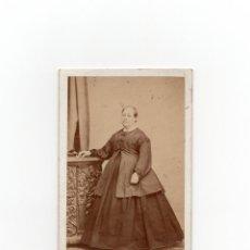 Fotografía antigua: CARTES DE VISITE. ESTUDIO FOTOGRÁFICO. J.POUJADE. CIUDAD REAL.. Lote 170983500