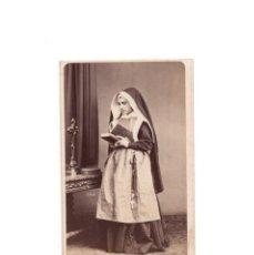 Fotografía antigua: CARTES DE VISITE. ESTUDIO FOTOGRÁFICO. J. LAURENT. MADRID. RELIGIOSA. MONJA. . Lote 171110780