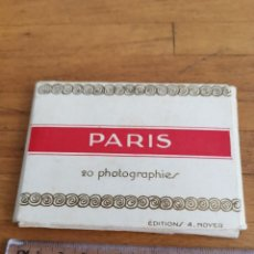 Fotografía antigua: 20 VISTAS FOTOGRÀFICAS DE PARIS DEL EDITOR A.MOYER. Lote 171150352