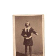 Fotografía antigua: CARTES DE VISITE. ESTUDIO FOTOGRÁFICO. J. LAURENT. MADRID. TEATRO.. Lote 171366787