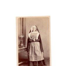 Fotografía antigua: CARTES DE VISITE. ESTUDIO FOTOGRÁFICO. J. LAURENT. MADRID. RELIGIOSA. MONJA. . Lote 171367070
