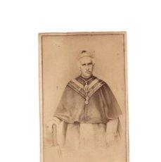 Fotografía antigua: CARTES DE VISITE. OBISPO ESPAÑOL. COSTA Y BARRA. RELIGIOSA.. Lote 171687508