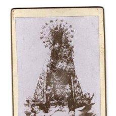 Fotografía antigua: CARTES DE VISITE. ESTUDIO FOTOGRÁFICO. DESCONOCIDO. VIRGEN. RELIGIOSA.. Lote 171714874