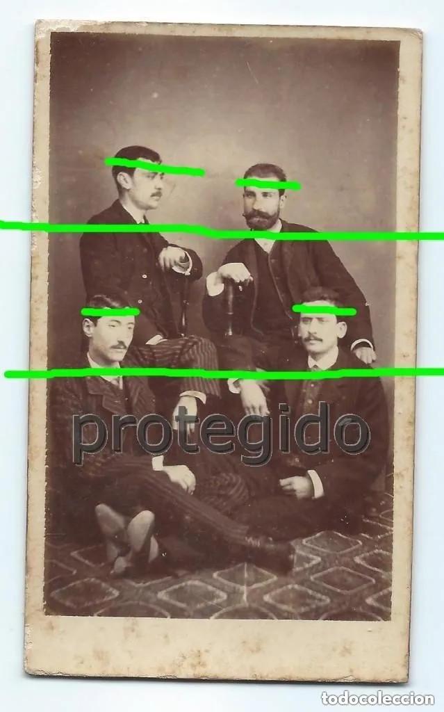 H. Y J. LENCINA Y A. Y E. GARCÍA. DEDICADA Y FIRMADA. YBAÑEZ HERMANOS FOTÓGRAFOS. YECLA, MURCIA. (Fotografía Antigua - Cartes de Visite)