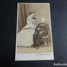 Fotografía antigua: MADRID ALONSO MARTINEZ Y HMNO FOTOGRAFO RETRATO PADRE E HIJA CARTE DE VISITE HACIA 1865. Lote 171877714