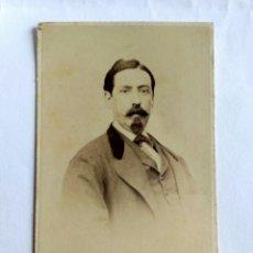 Fotografía antigua: FOTOGRAFÍA, CARTA DE VISITA. E. GARREAUD Y CÍA. LIMA S. XIX.. Lote 172224210