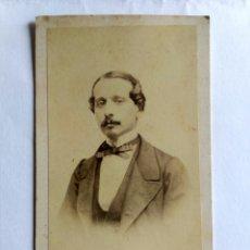 Fotografía antigua: FOTOGRAFÍA, CARTA DE VISITA. MAUNOURY Y CÍA. LIMA S. XIX.. Lote 172224480