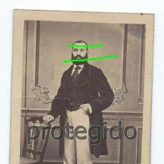 Fotografía antigua: RETRATO. CABALLERO. SIGLO XIX. FRANCISCO BENITES FOTÓGRAFO. ÁNGELES, 12. ALICANTE.. Lote 91973550