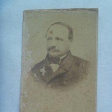 Fotografía antigua: CDV DE SEÑOR DEL SIGLO XIX. Lote 172932387