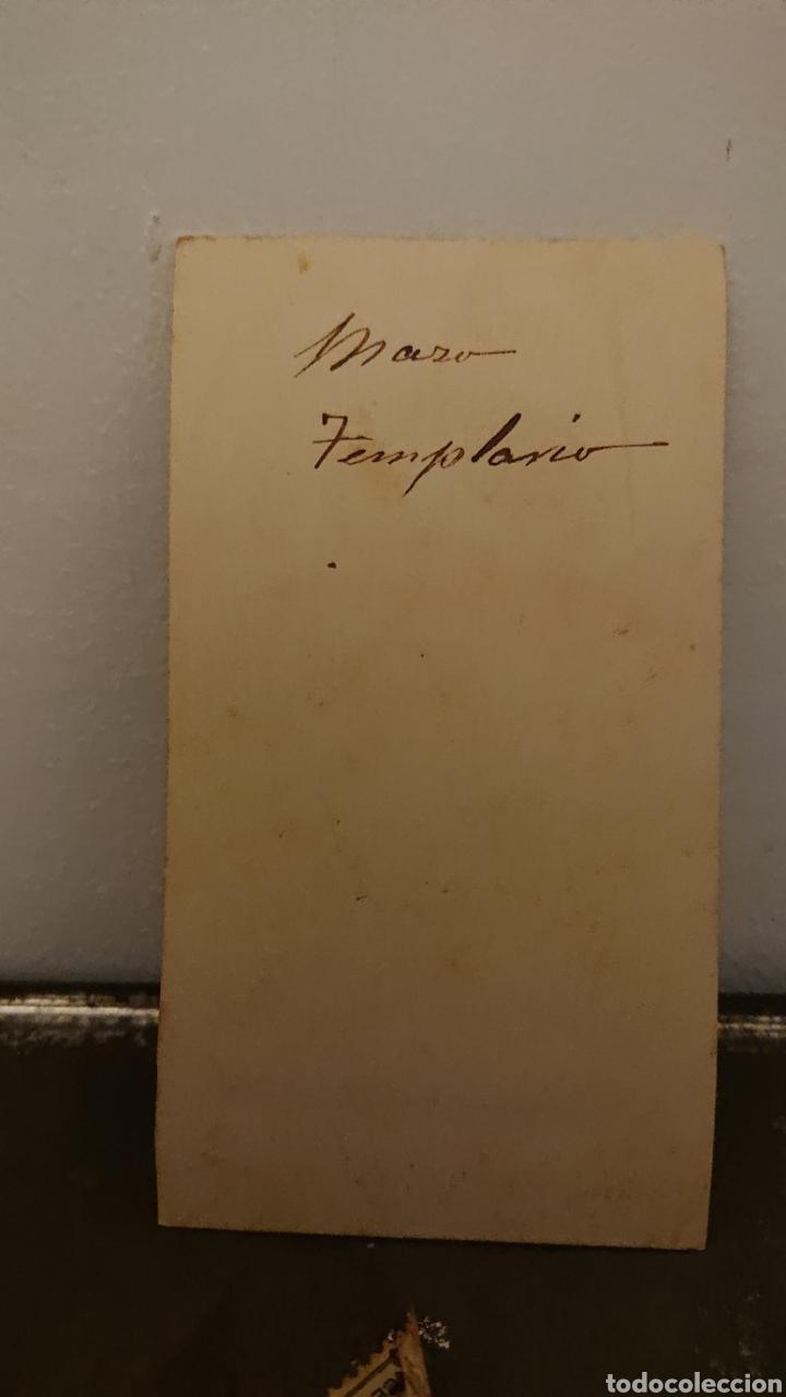 Fotografía antigua: Fotografía templario, CDV, muy Rara, siglo XIX, Original, - Foto 2 - 174719347