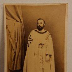 Fotografía antigua: FOTOGRAFÍA TEMPLARIO, CDV, MUY RARA, SIGLO XIX, ORIGINAL,. Lote 174719347
